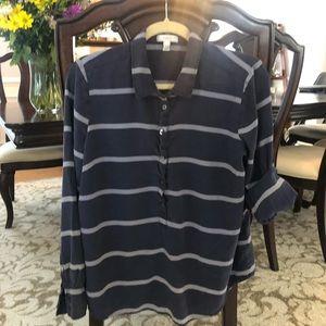 J crew silk blouse ; size 14